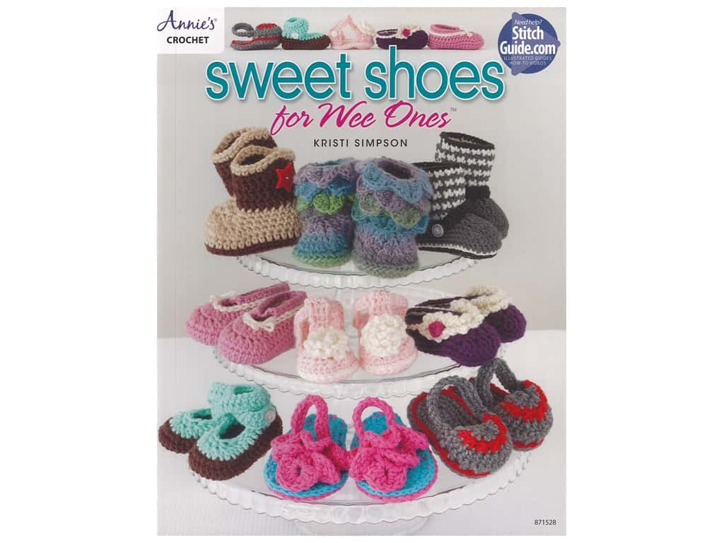 Annie's Crochet Sweet Shoes For Wee Ones Book