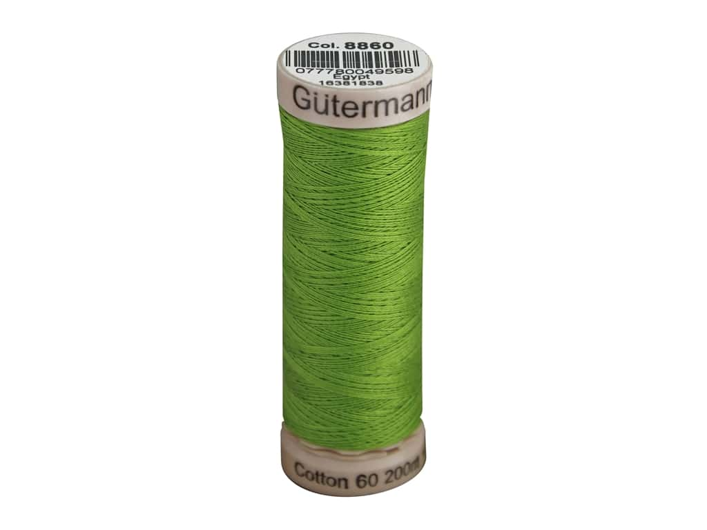 Gutermann Natural Cotton Sewing Thread 60 wt. 273 yd. #8860 Pastoral Green