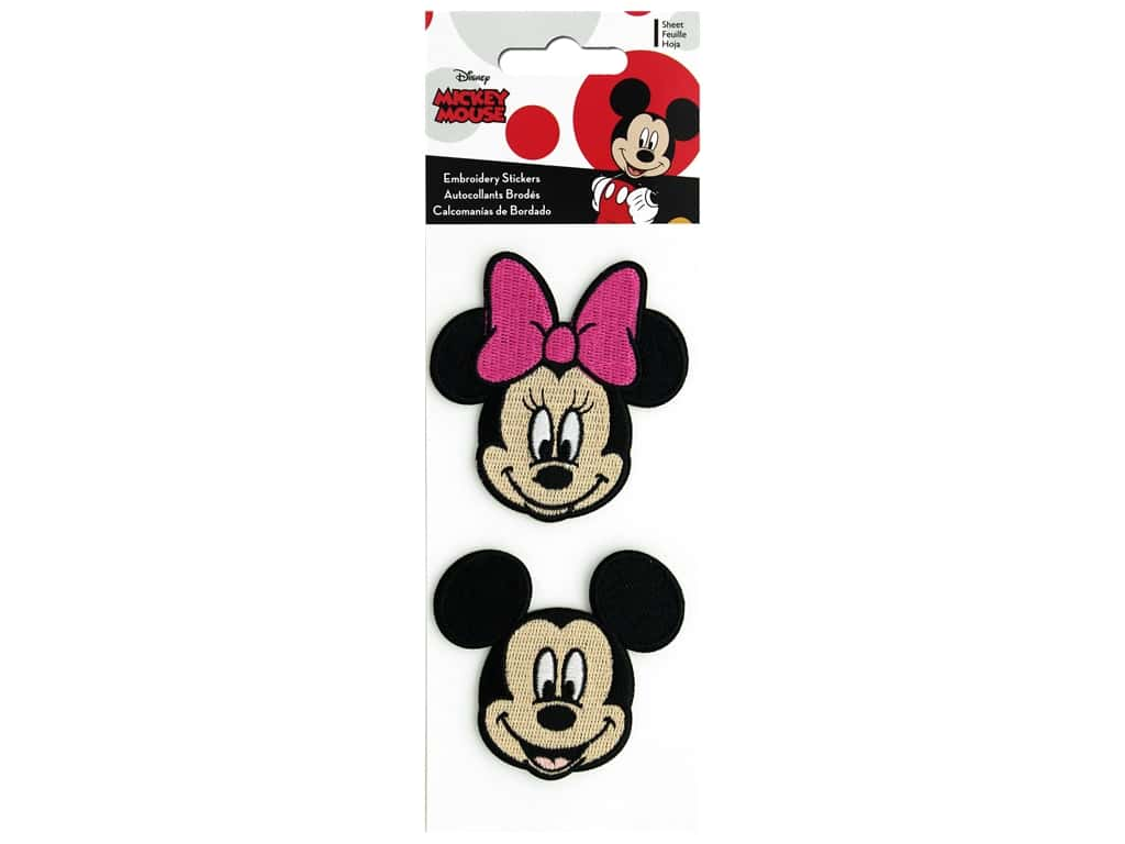 SandyLion Sticker Mickey And Minnie Embroidery