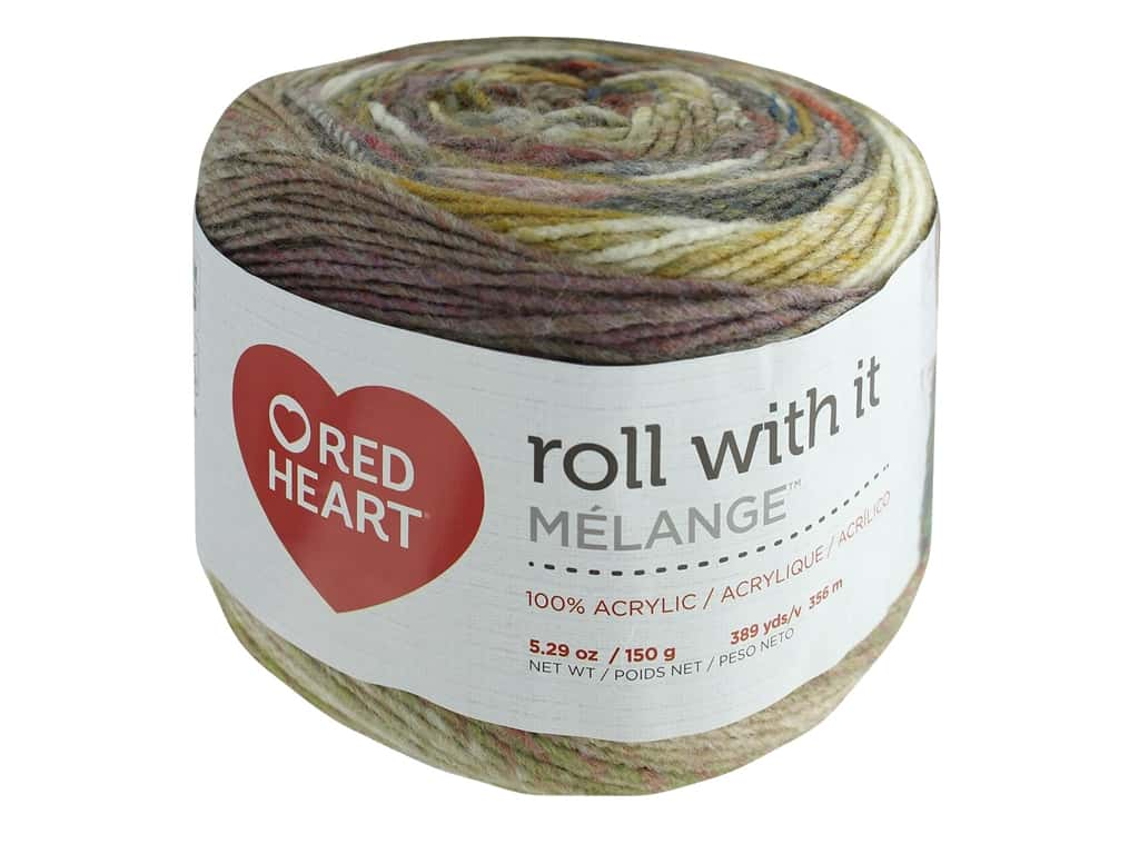 Coats & Clark Red Heart Roll With It Yarn Melange 5.3 oz Theater (3 skeins)