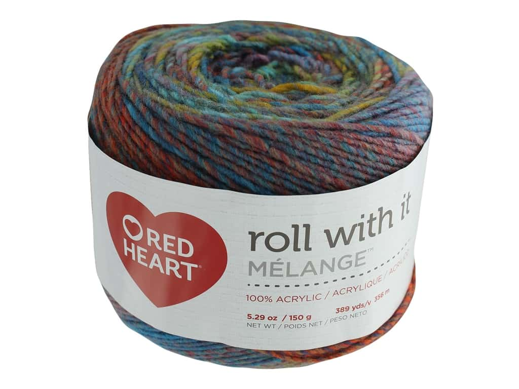 Coats & Clark Red Heart Roll With It Yarn Melange 5.3 oz Paparazzi