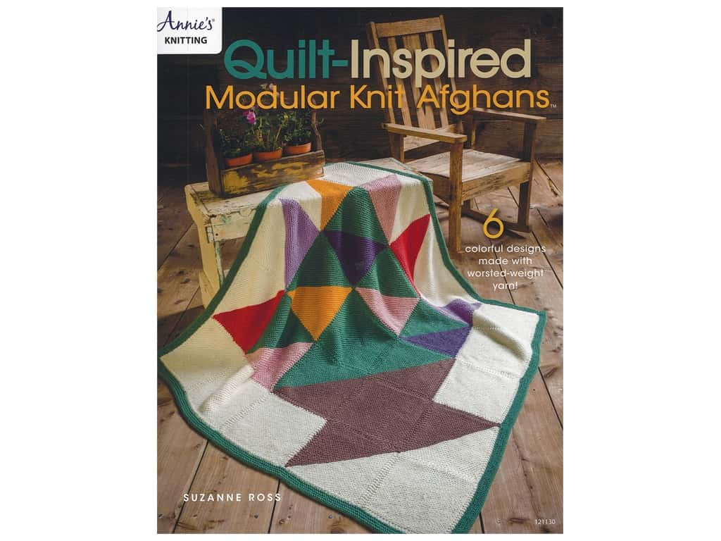 Annie's Quilt Inspired Modular Knit Afghans Book