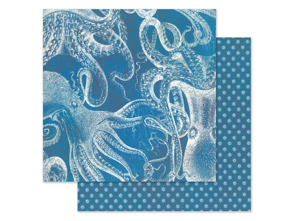 Graphic 45 Collection Ocean Blue Paper 12 in. x 12 in. Antigua (25 pieces)