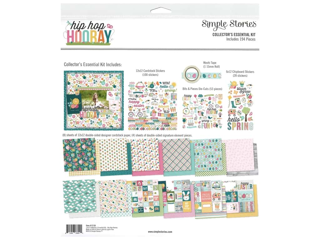 Simple Stories Collection Hip Hop Hooray Collector's Essentials Kit