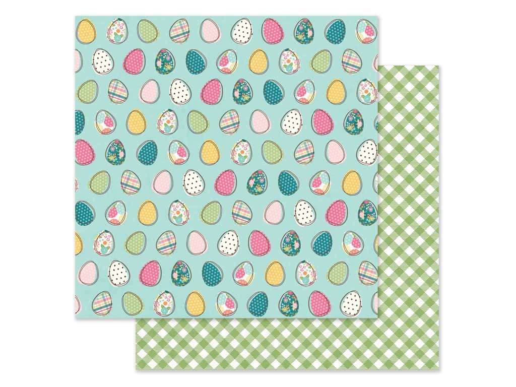 Simple Stories Collection Hip Hop Hooray Paper 12 in. x 12 in. Egg-stra Special (25 pieces)