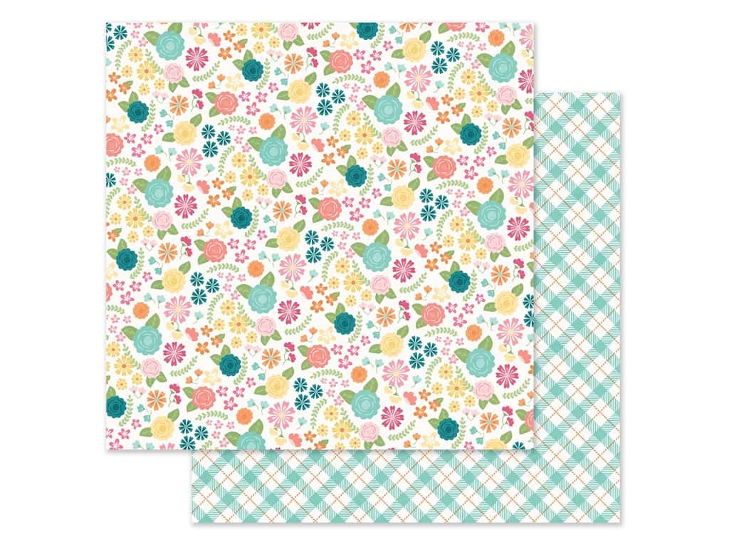 Simple Stories Collection Hip Hop Hooray Paper 12 in. x 12 in. Blossoms (25 pieces)