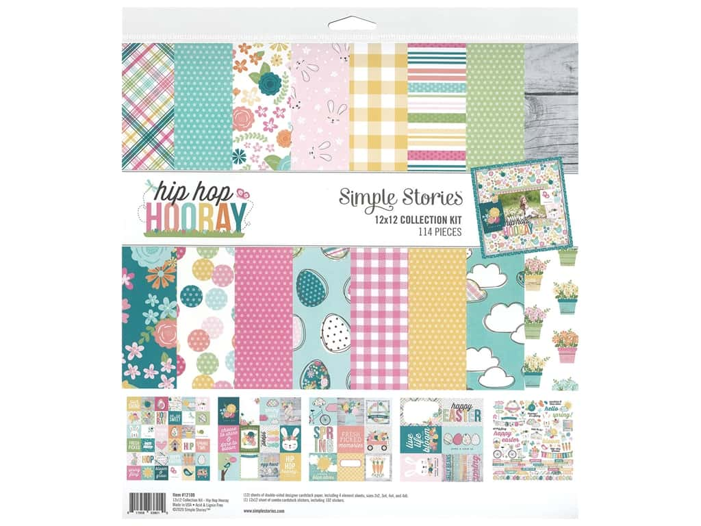 Simple Stories Collection Hip Hop Hooray Collection Kit 12 in. x 12 in.