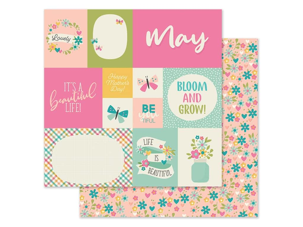 Simple Stories Collection Best Year Ever Paper 12 in. x 12 in. May (25 pieces)