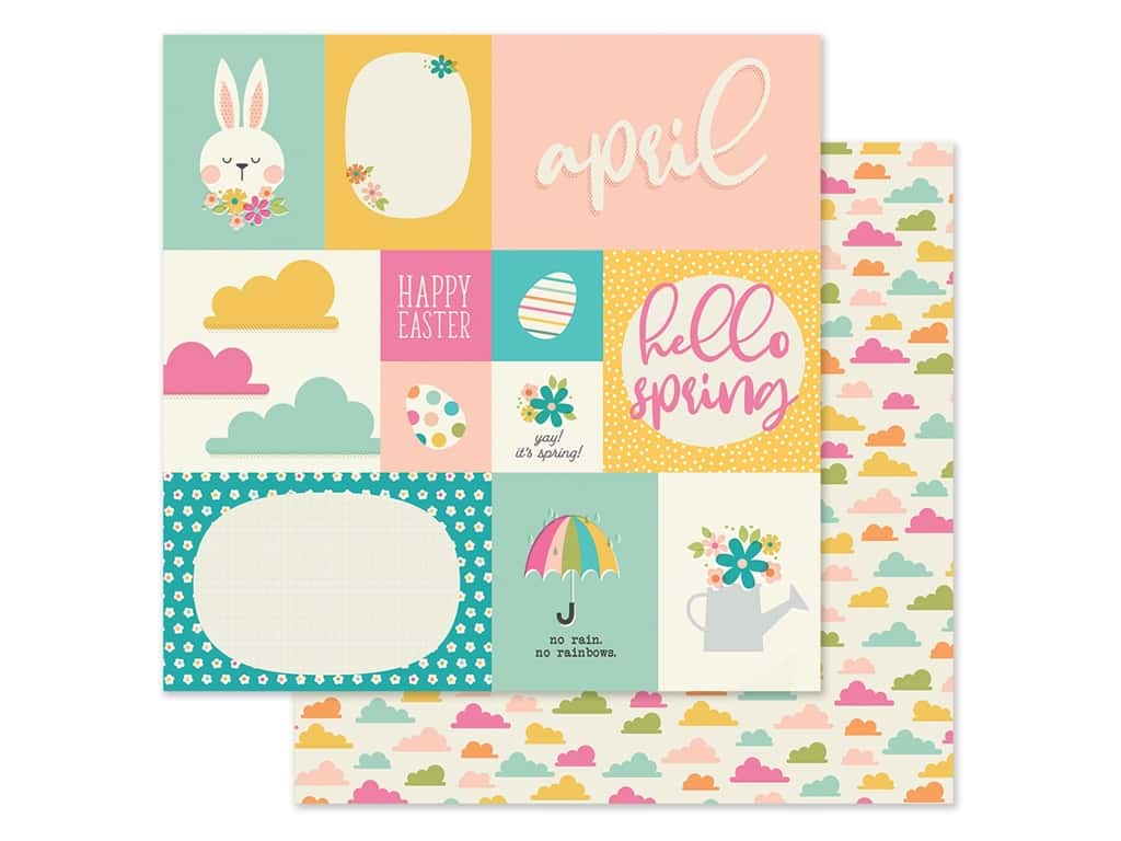 Simple Stories Collection Best Year Ever Paper 12 in. x 12 in. April (25 pieces)