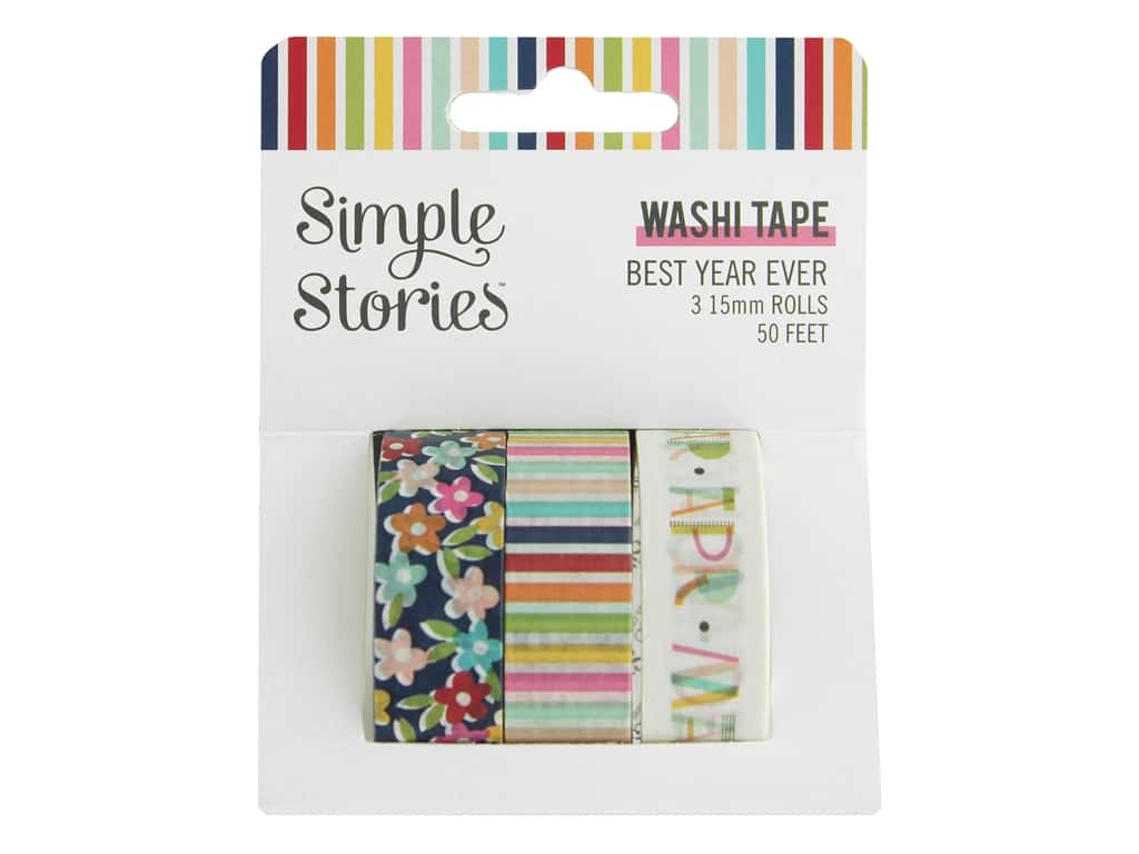Simple Stories Collection Best Year Ever Washi Tape