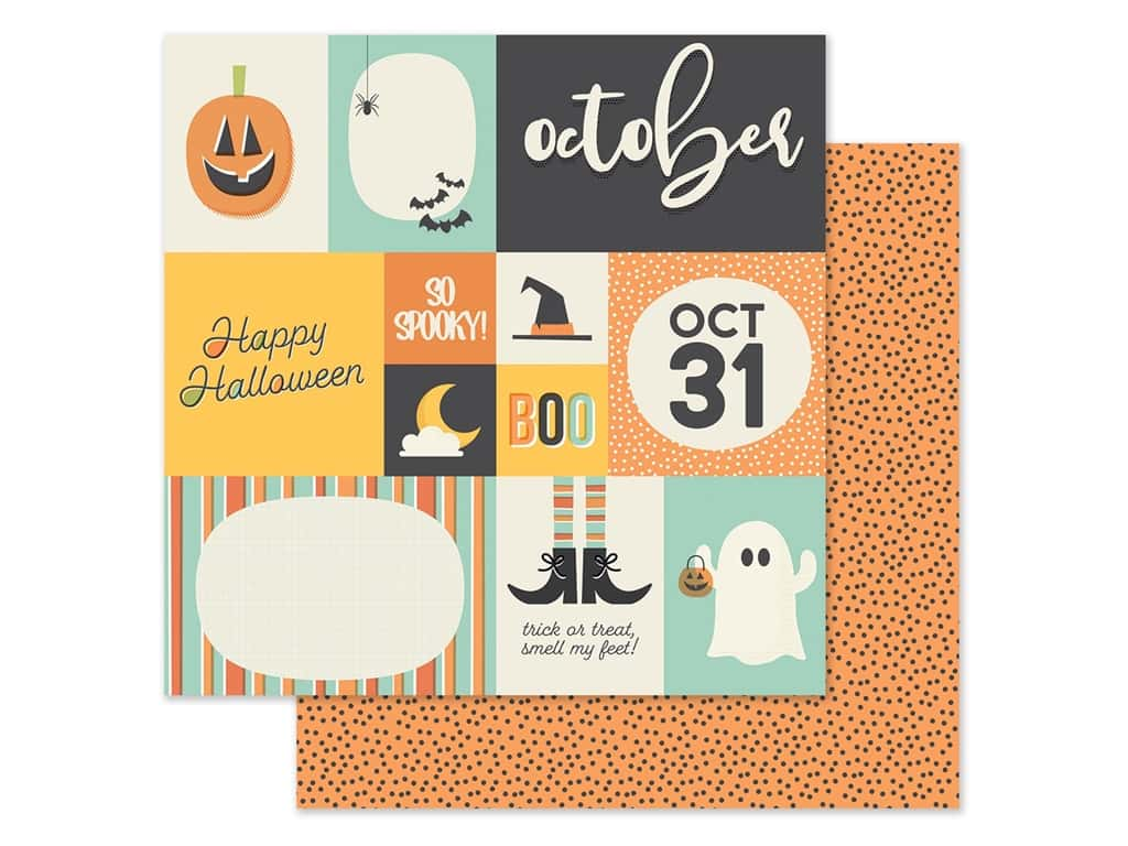 Simple Stories Collection Best Year Ever Paper 12 in. x 12 in. October (25 pieces)