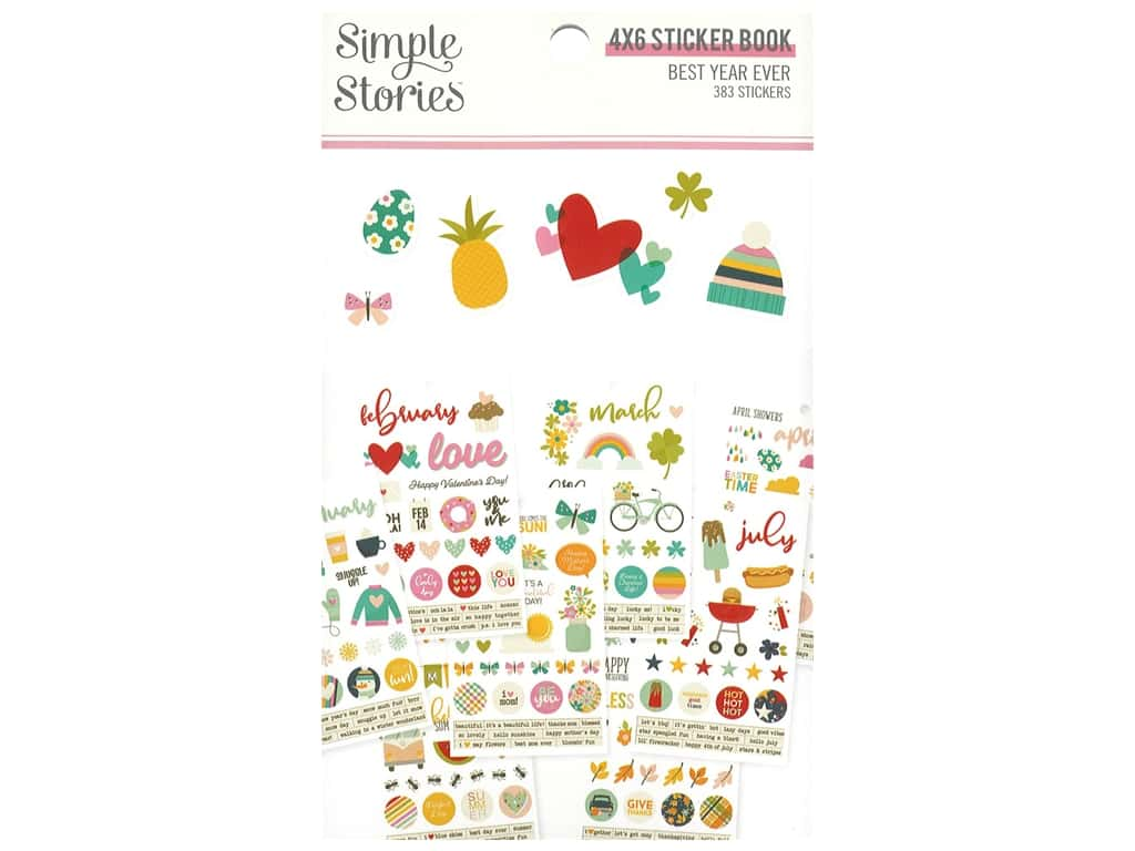 Simple Stories Collection Best Year Ever Sticker Book 4 in. x 6 in.
