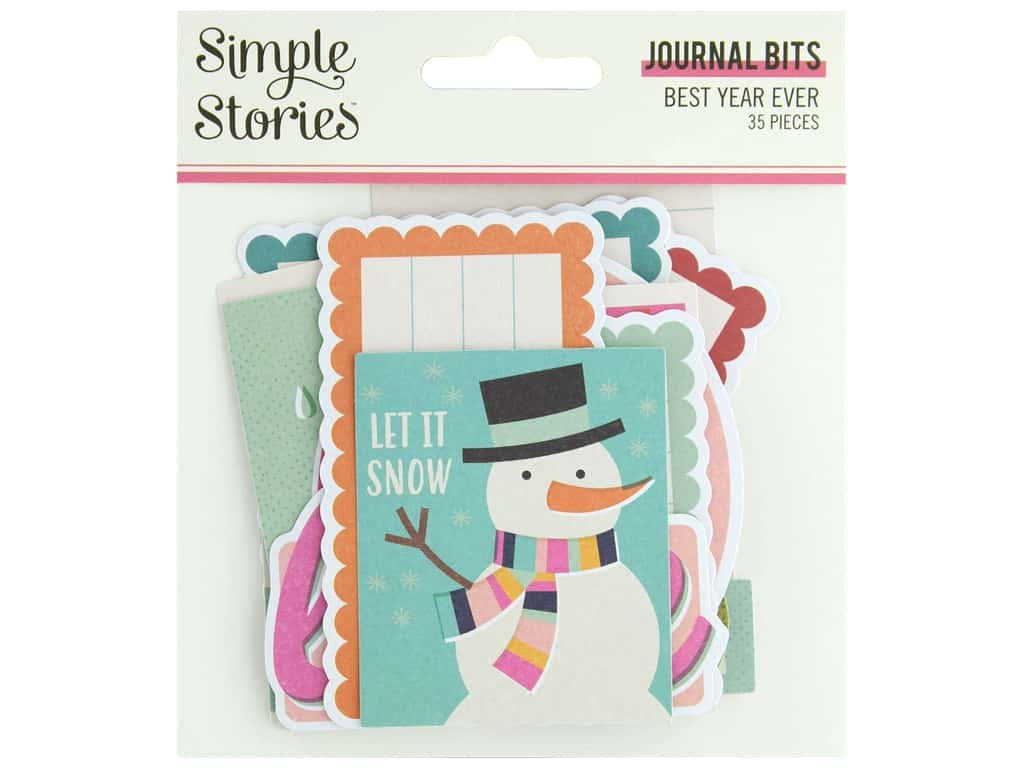 Simple Stories Collection Best Year Ever Bits & Pieces Journal