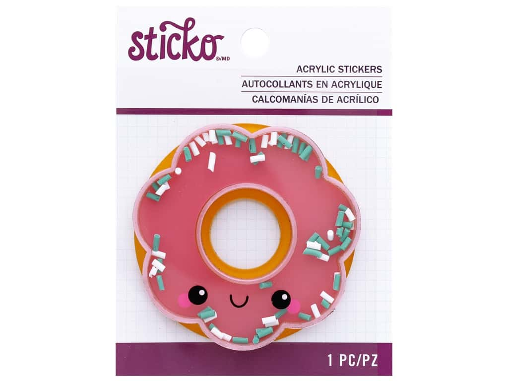 EK Sticko Stickers Acrylic Happy Donut