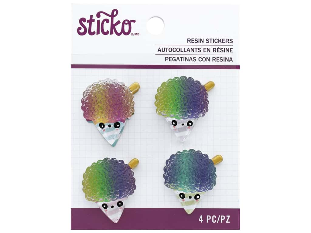 EK Sticko Stickers Resin Snowcone
