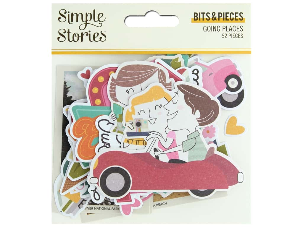 Simple Stories Collection Going Places Bits & Pieces