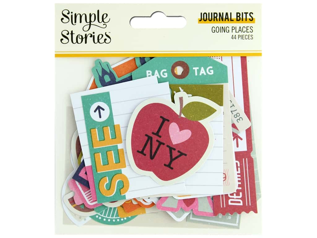 Simple Stories Collection Going Places Bits & Pieces Journal