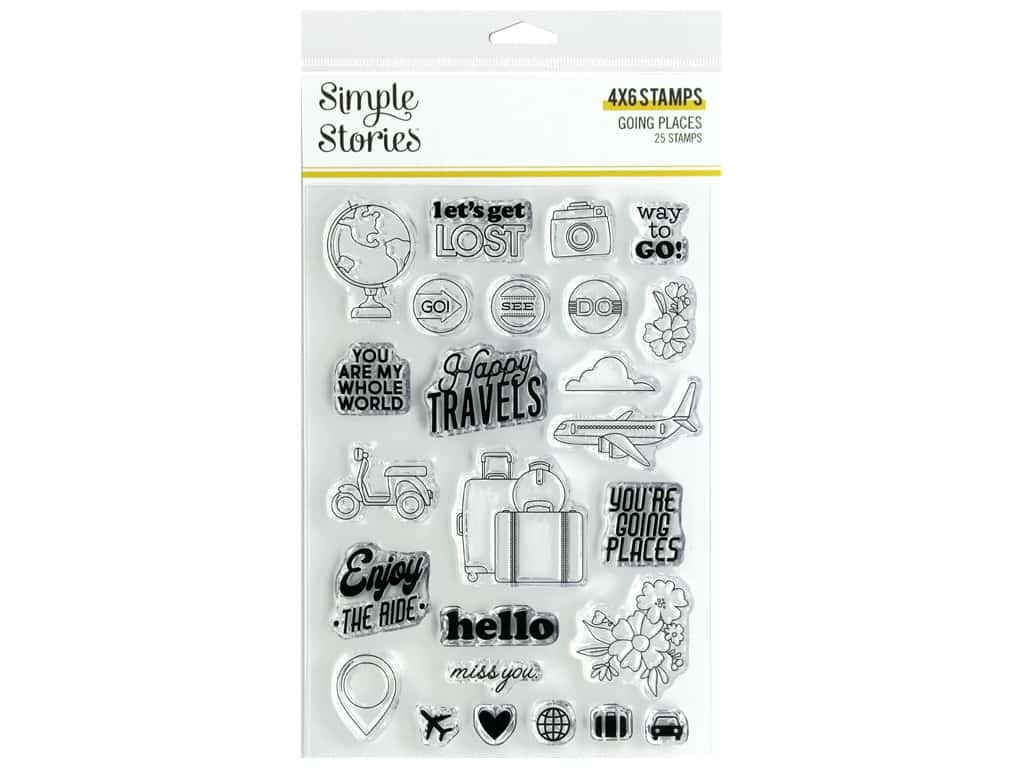 Simple Stories Collection Going Places Stamps