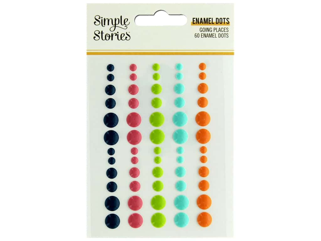 Simple Stories Collection Going Places Enamel Dots