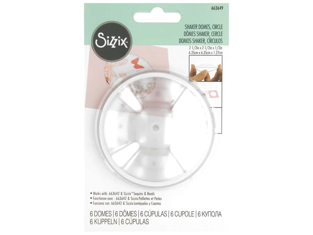 Sizzix Making Essential Shaker Dome 2.5 in. Circle 6 pc