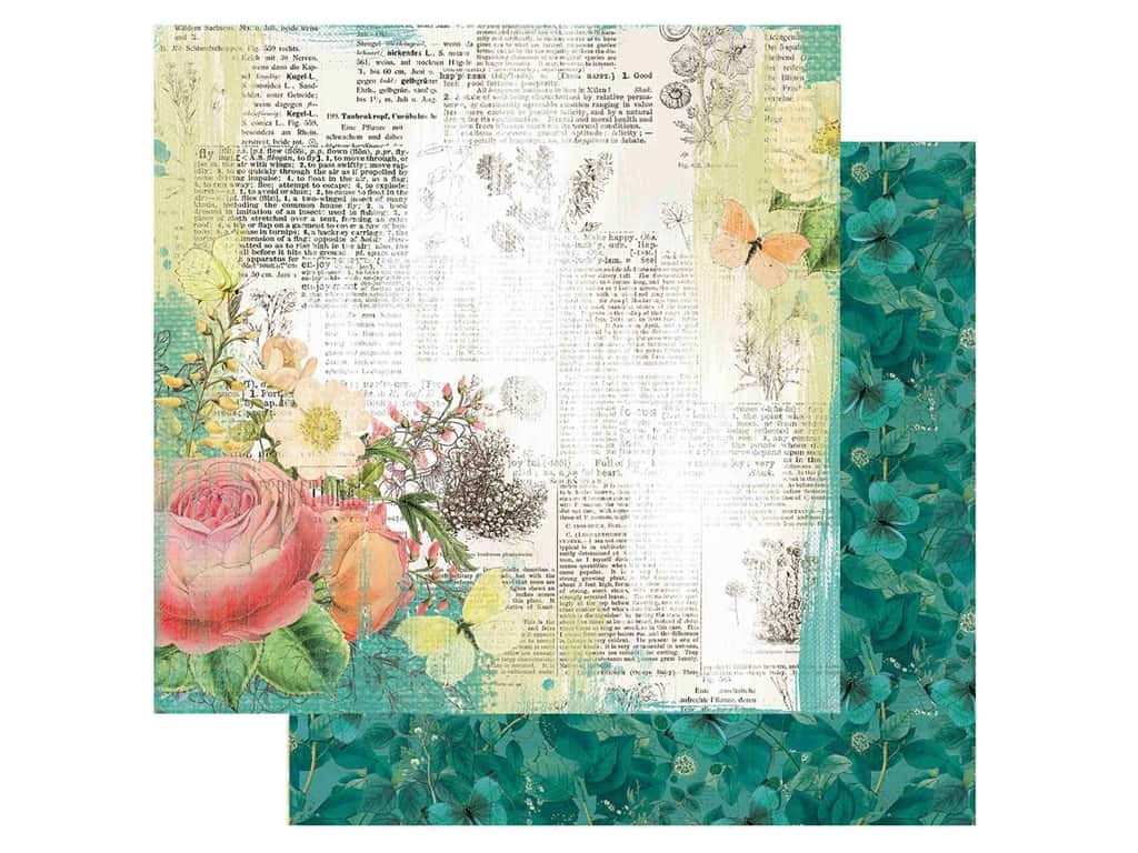Simple Stories Collection Simple Vintage Garden District Paper12 in. x 12 in. Live For Today (25 pieces)