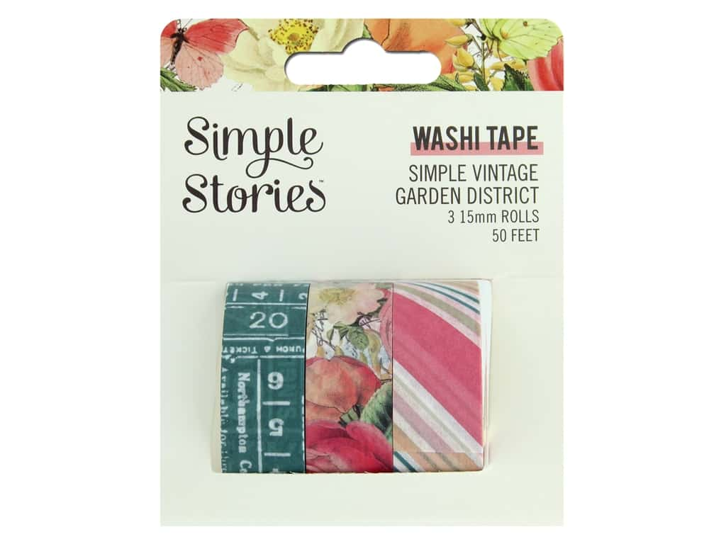 Simple Stories Collection Simple Vintage Garden District Washi Tape