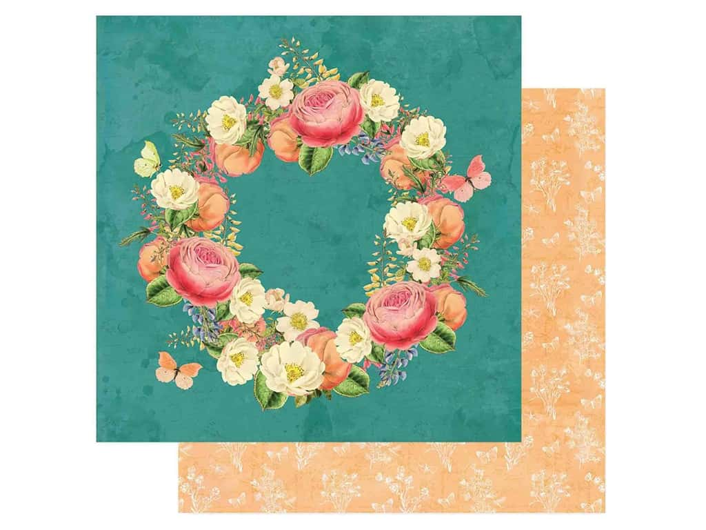 Simple Stories Collection Simple Vintage Garden District Paper 12 in. x 12 in. Love More (25 pieces)