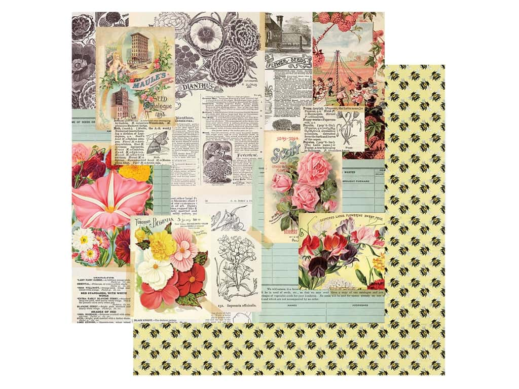 Simple Stories Collection Simple Vintage Garden District Paper 12 in. x 12 in. See The Beauty (25 pieces)