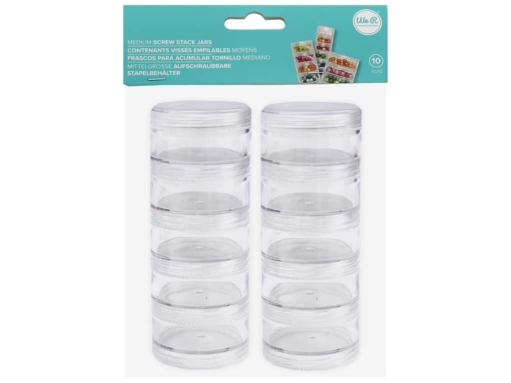 We R Memory Organizer Screw Stack Jars Medium 10 pc