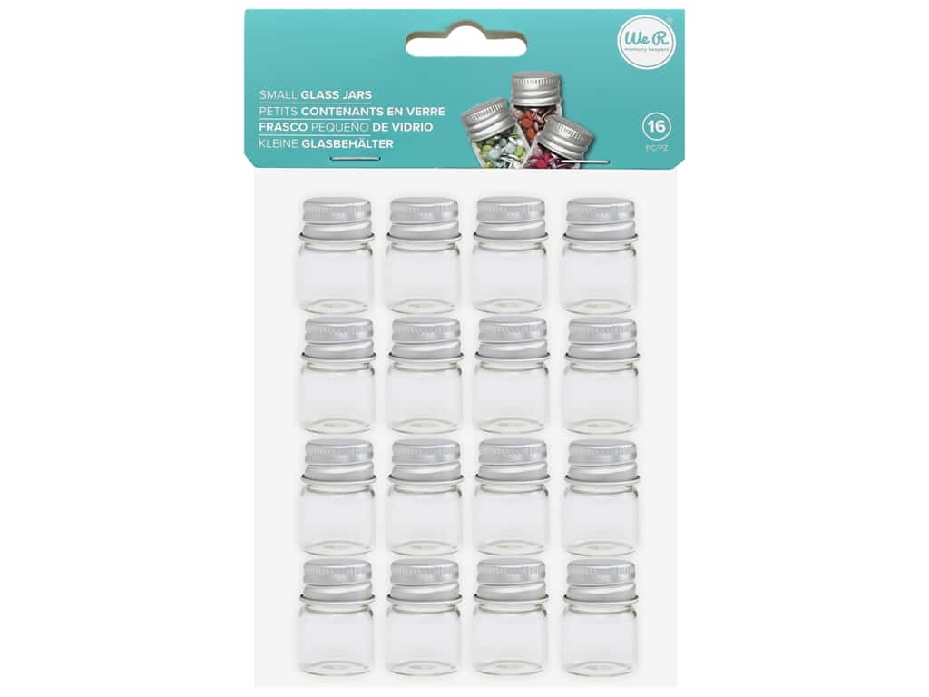 We R Memory Organizer Glass Jars Small 16 pc