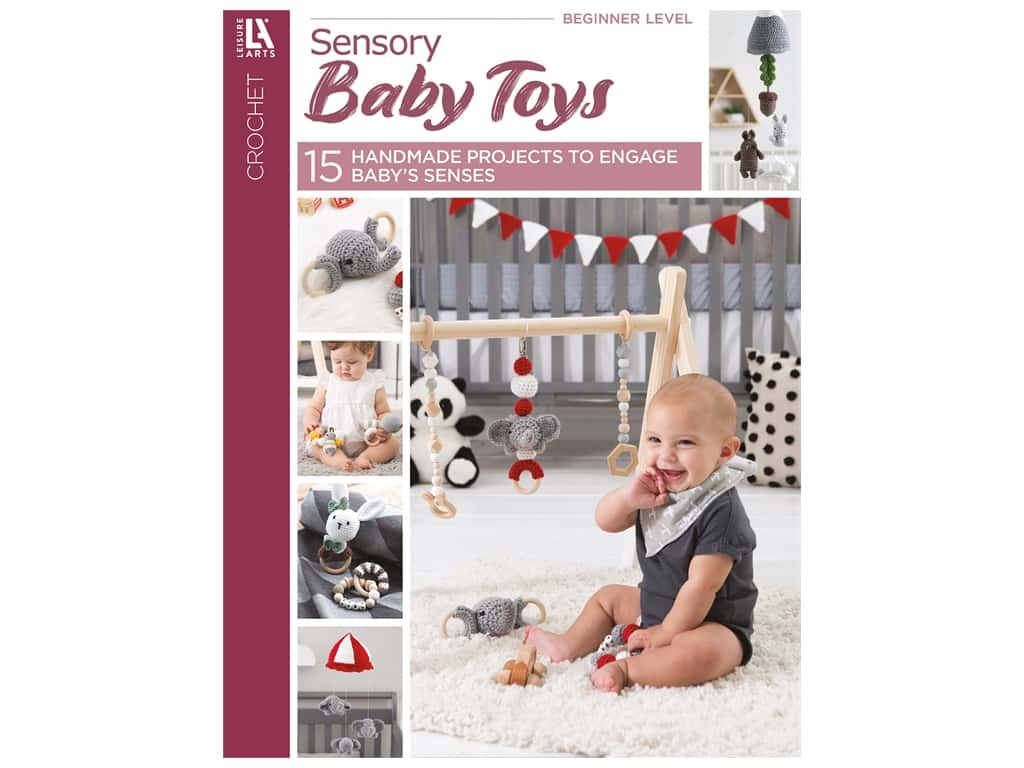 Leisure Arts Crochet Sensory Baby Toys Book