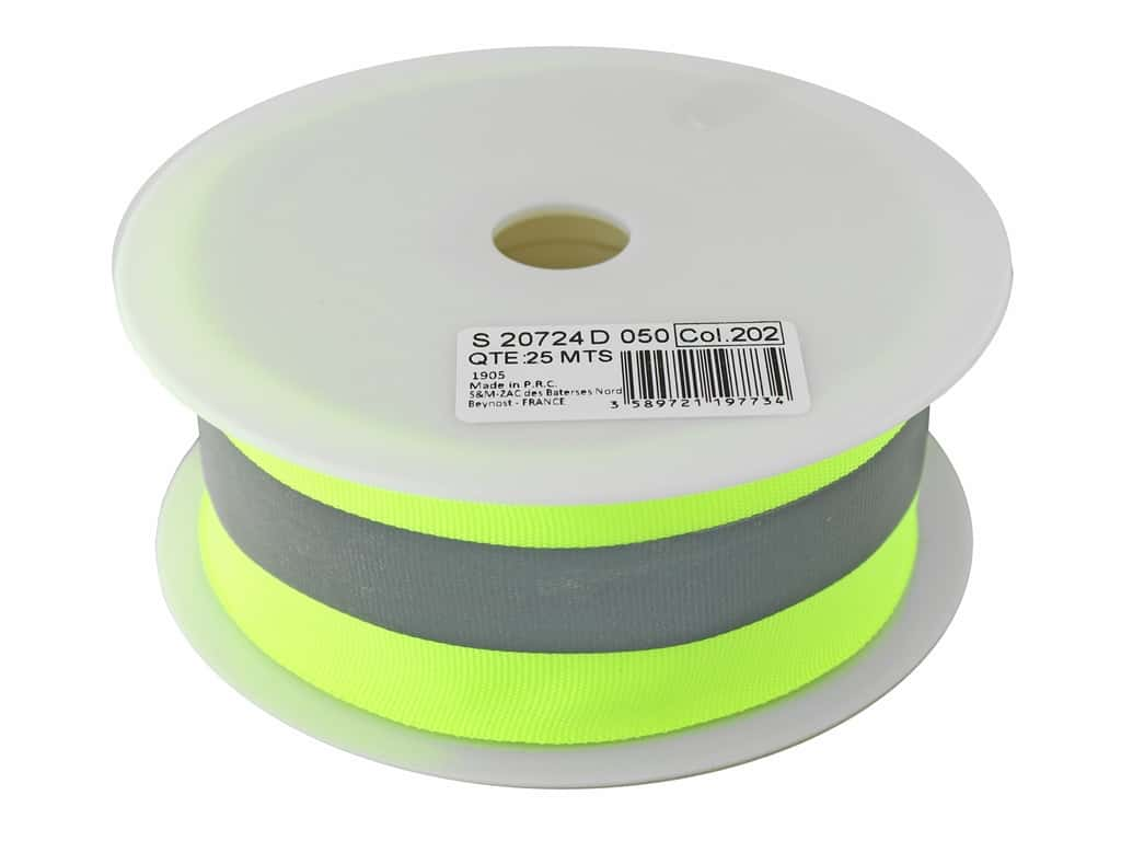Stephanoise Reflective Tape 50mm 27.5 yd Yellow