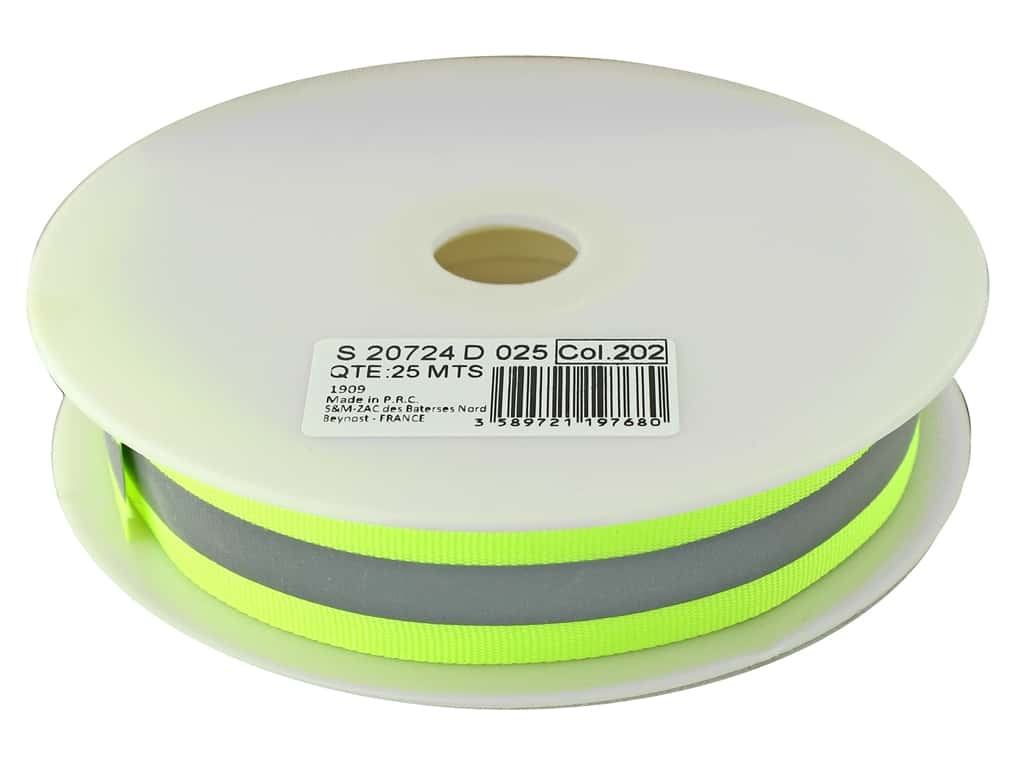 Stephanoise Reflective Tape 25 mm 27.5 yd Yellow