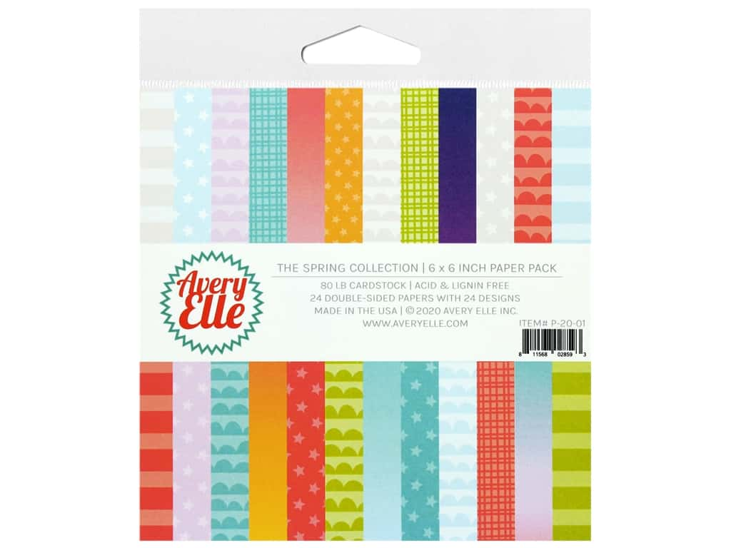 Avery Elle Paper Pack 6 in. x 6 in. The Spring Collection