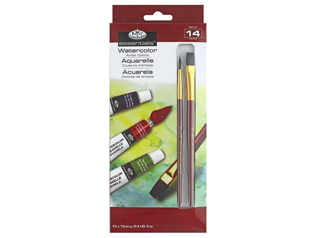 Royal Set Watercolor Paint With Brush 12 pc