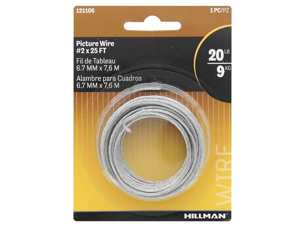 Hillman Picture Wire Braided #2x 25ft