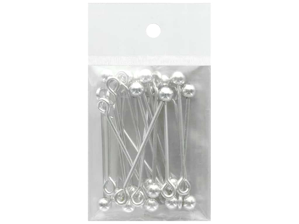 Beadalon Instant Pendant 6 mm Ball Screw-on Finials 20 pc. Silver