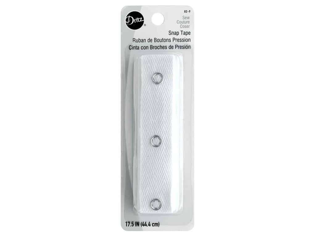 Dritz Snap Tape 17 1/2 in. White