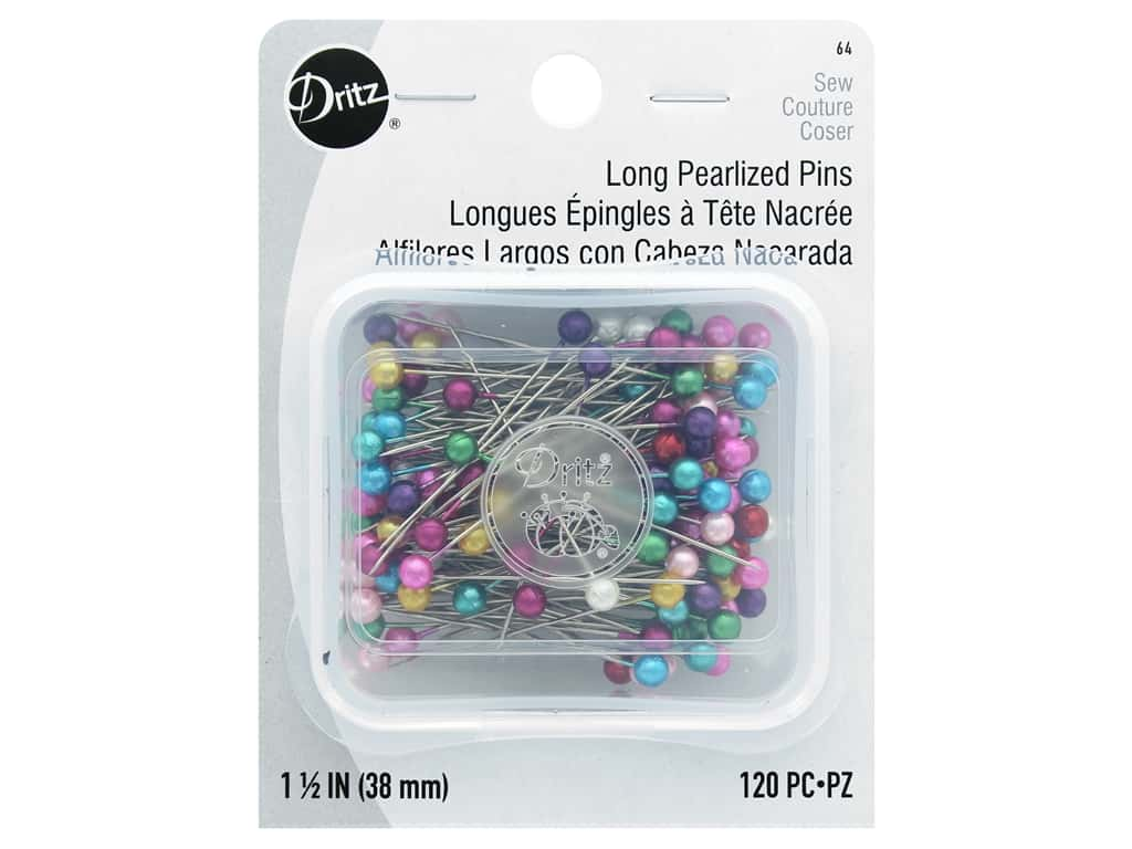 Dritz Long Pearlized Pins Size 24 120 pc.