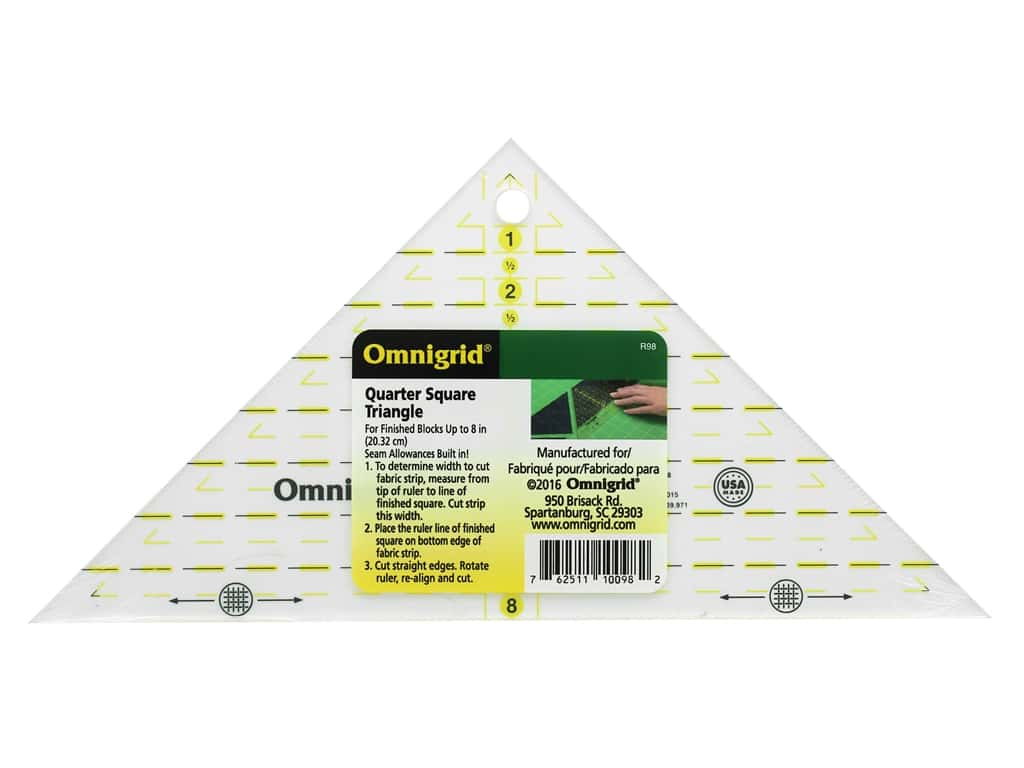 Omnigrid Ruler 8 in. Quarter Square Triangle