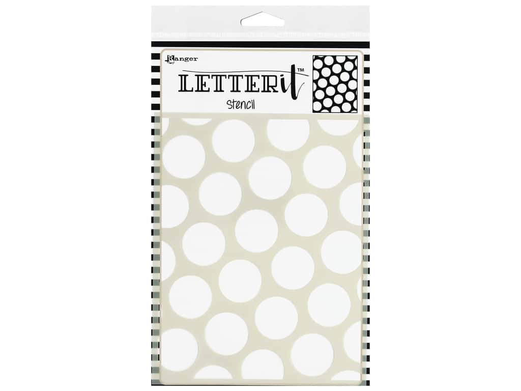 Ranger Letter It Stencil Polka Dotting