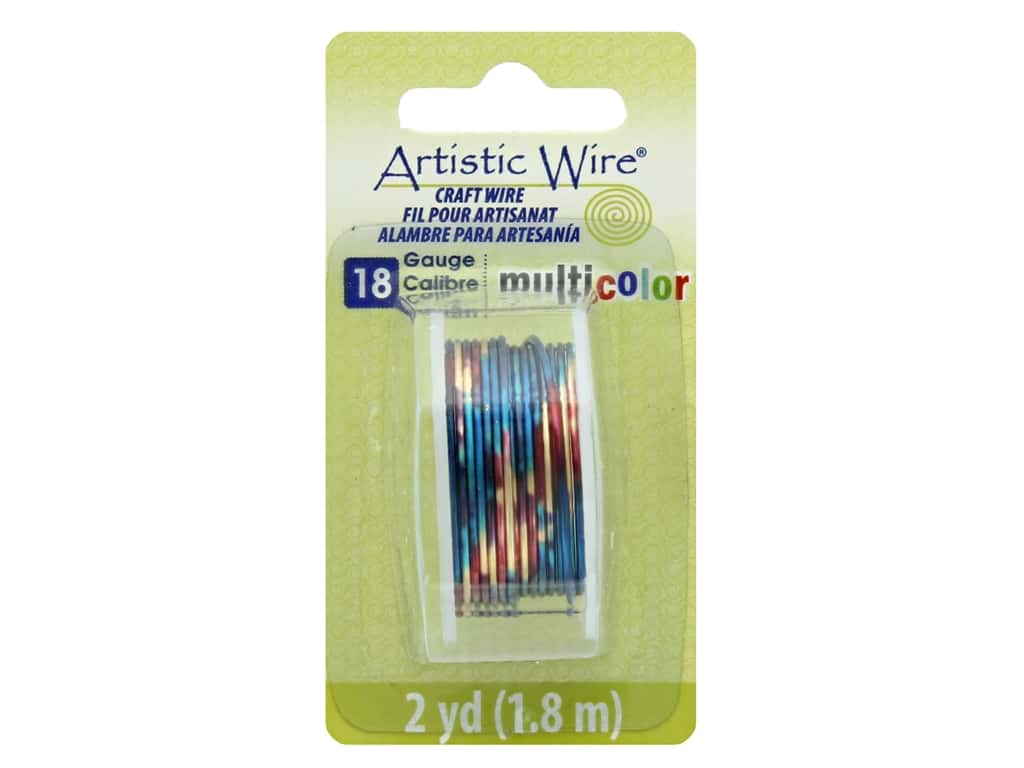 Artistic Wire Multicolor Craft Wire 18 Ga 2 yd. Blue/Red/Gold