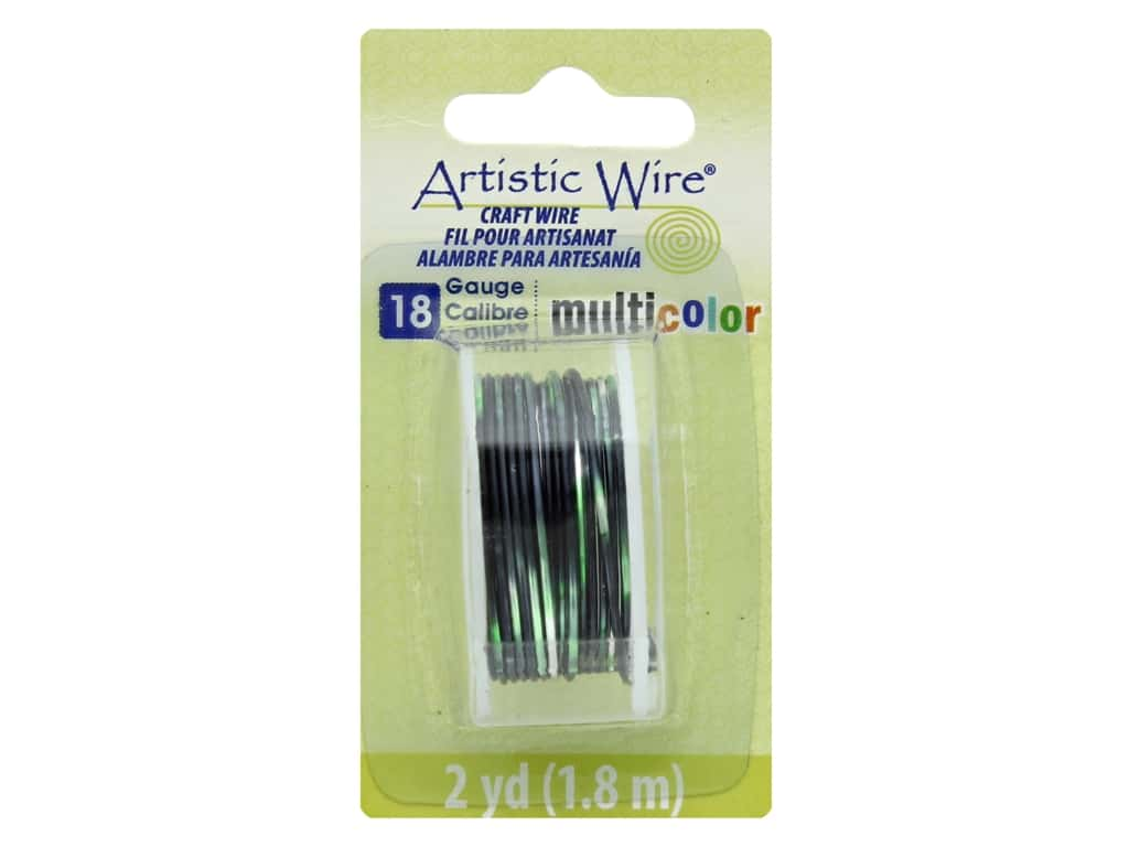 Artistic Wire Multicolor Craft Wire 18 Ga 2 yd. Silver/Black/Green