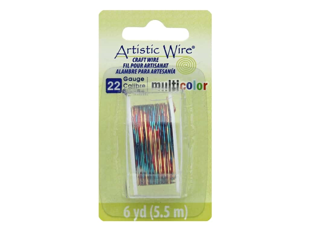 Artistic Wire Multicolor Craft Wire 22 Ga 6 yd. Blue/Red/Gold
