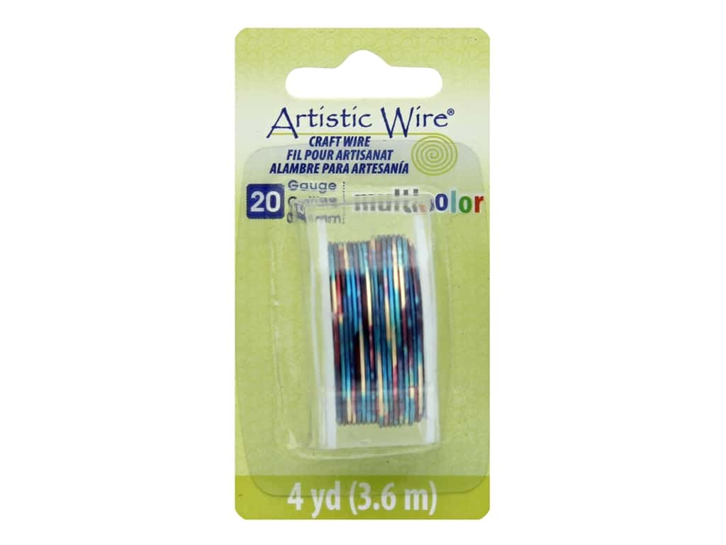 Artistic Wire Multicolor Craft Wire 20 Ga 4 yd. Blue/Red/Gold