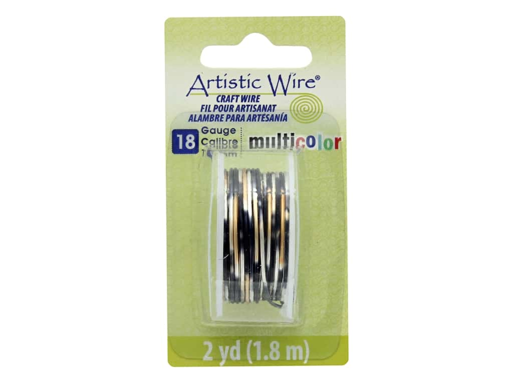 Artistic Wire Multicolor Craft Wire 18 Ga 2 yd. Silver/Gold/Black
