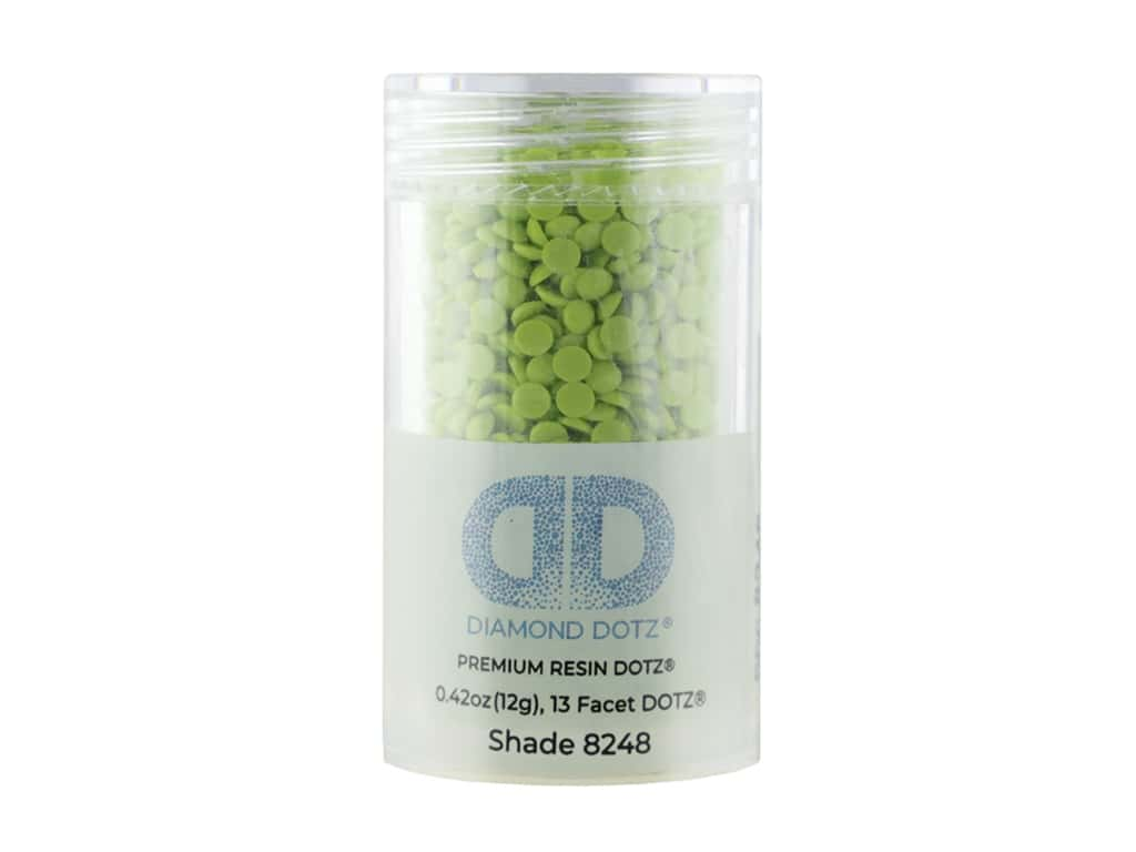 Diamond Dotz Freestyle Gems 0.43 oz. #8248 Light Frog Green (4 jars)