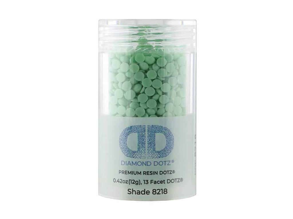 Diamond Dotz Freestyle Gems 2.8 mm 12 g Medium Mint Green (4 jars)