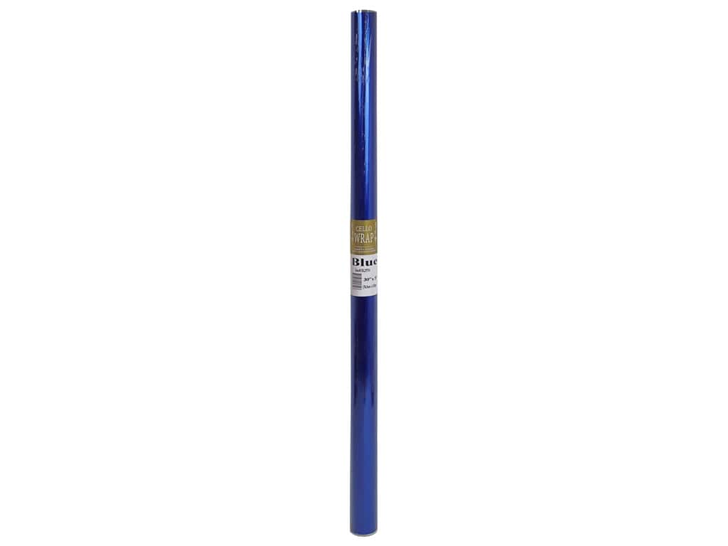 Cello Wrap 30 in. x 5 ft. Solid Blue