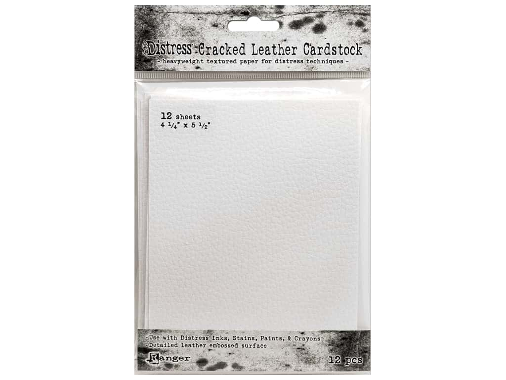Ranger Tim Holtz Distress Cracked Leather Cardstock 4.25 in. x 5.5 in.